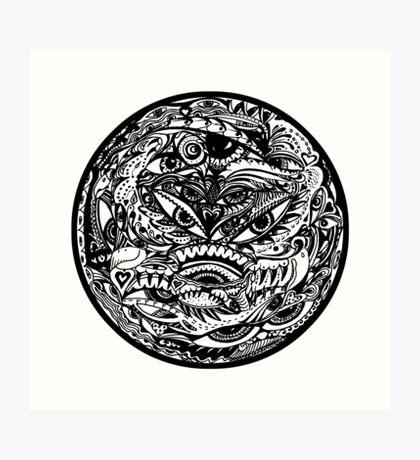 Circle 20 - Watchers 2 Aussie Tangle (see description notes re colour options) Art Print