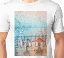 Rainy Day Summertime, Seaford Promenade (East Sussex) Unisex T-Shirt
