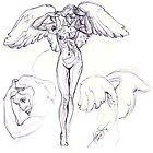 Female angel by Larry Holmes