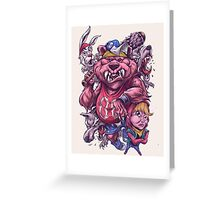 Masha and Roar Bear Greeting Card