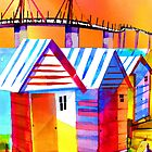 Brighton Beach Houses, Melbourne Australia by givejoydesigns