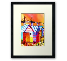Brighton Beach Houses, Melbourne Australia Framed Print