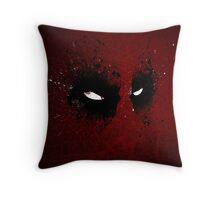 Paint Splatter Villaines : Deadpool Throw Pillow
