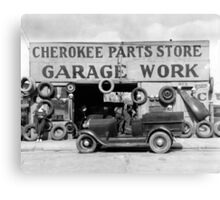 Cherokee Parts Store, 1936 Canvas Print