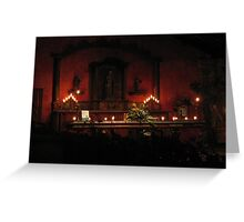 The Candlelit Lobby of Casa Santo Domingo, Antigua Greeting Card