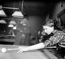 Billiards Champ, 1910 by historyphoto