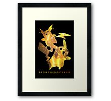 Lightning Clash Framed Print