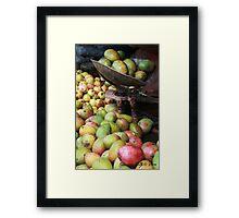 Mangoes in a market Framed Print