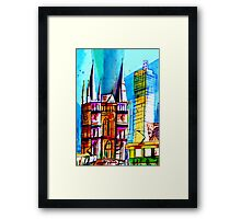 St. Paul Cathedral/ Federation Square- Melbourne Australia Framed Print