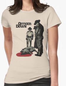 Officer Down Womens Fitted T-Shirt
