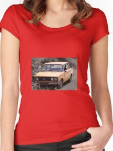 vintage old car Women's Fitted Scoop T-Shirt