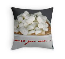 Because You Are Throw Pillow