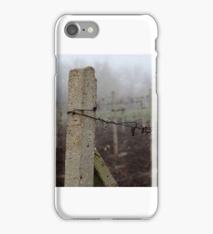 Cobweb on post iPhone Case/Skin