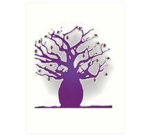 purple boab tree with coffee beans Art Print