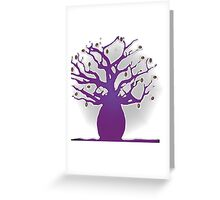 purple boab tree with coffee beans Greeting Card