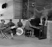 Army Jazz Band, 1918 by historyphoto