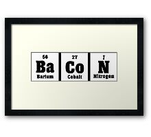 The elements of bacon Funny Geek Nerd Framed Print