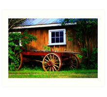 Pioneer Wagon Art Print