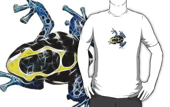 Frazzy Frog by ©Fractal Tees by Artlife