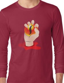 Hand grasping an orb with a tigers eye Long Sleeve T-Shirt