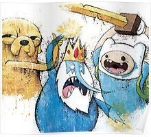 Adventure Time Finn and Jake and IceKing Poster