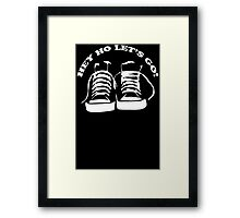 The Ramones Tribute Hey Ho lets Go Funny Geek Nerd Framed Print