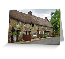 North Bovey Cottages Greeting Card
