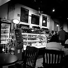Cafe in Black and White by Abby Rheaume