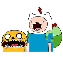 Adventure Time Finn and Jake Photographic Print