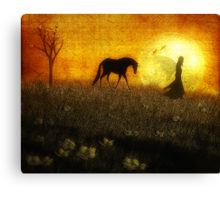 Guided by the Moonlight Canvas Print