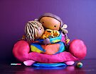 CHUNKIE Mother and Girl Child by Karin  Taylor