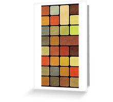 Cube Squares Retro Greeting Card