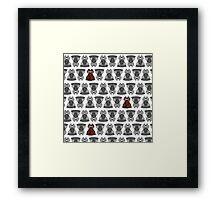Fox Damask Framed Print
