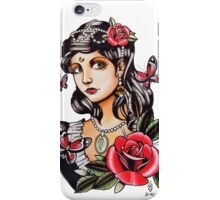 Butterfly Girl - tattoo iPhone Case/Skin