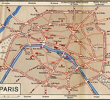 Map of Paris by suitgraphic