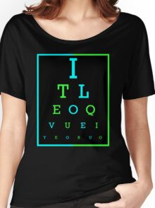 I Love You eye chart -- English, Spanish Women's Relaxed Fit T-Shirt