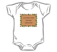 Customizable New Baby Information One Piece - Short Sleeve