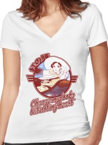 Porco 02 Women's Fitted V-Neck T-Shirt