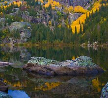 Rocks in Bear Lake Autumn by Paul Gana
