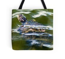 Snapping turtle closeup Tote Bag