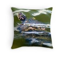 Snapping turtle closeup Throw Pillow