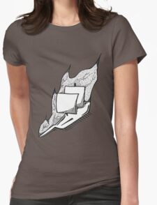 Burning Ship Womens Fitted T-Shirt