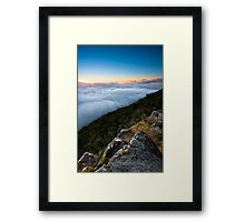 Way Above The Clouds Framed Print
