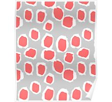 Zola - Abstract painted dots, painterly, bold pattern, surface pattern, print pattern design Poster