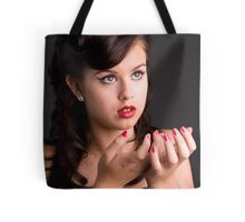 RetroTeenage Girl Tote Bag