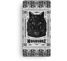 Prince Mononoke Black Wolf Canvas Print