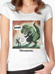 The only surviving dinosaur: Thesaurus  Women's Fitted Scoop T-Shirt