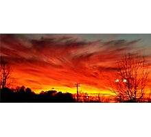 Sunset Swirls Photographic Print