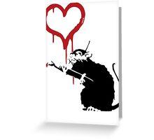 Banksy Love Rat Greeting Card