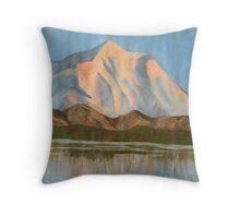 Watercolour Mountains Throw Pillow